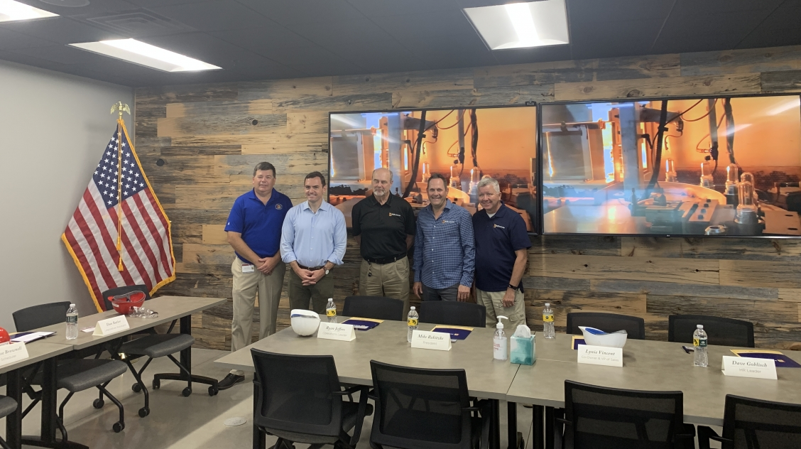 Rep.Gallagher tours NEW Plastics in August on the district tour 2021