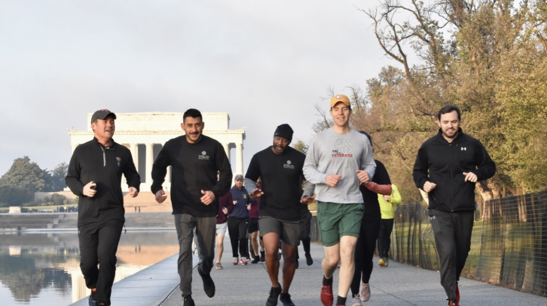 Running on the National Mall with House Veterans of the Global War on Terrorism